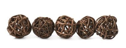 Linea di palle della paglia Fotografia Stock