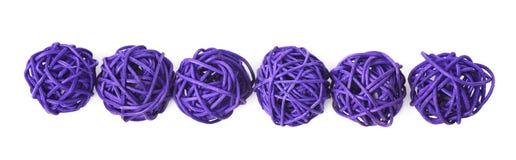 Linea di palle della paglia Immagini Stock Libere da Diritti