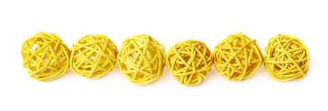 Linea di palle della paglia Immagini Stock