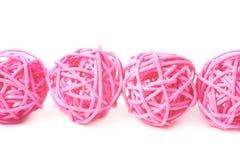 Linea di palle della paglia Fotografie Stock