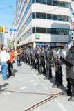 Linea di polizia bloccaggio Immagine Stock Libera da Diritti