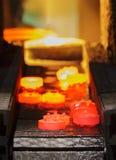 Linea di produzione calda dell'ingranaggio di pezzo fucinato Immagini Stock