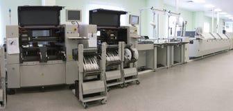 Linea di produzione del calcolatore automatico Fotografie Stock Libere da Diritti