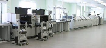 Linea di produzione del calcolatore automatico Immagine Stock Libera da Diritti
