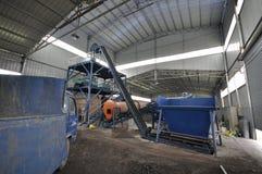 Linea di produzione del fertilizzante organico Fotografie Stock
