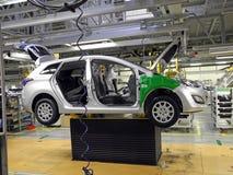 Linea di produzione dell'automobile Fotografie Stock