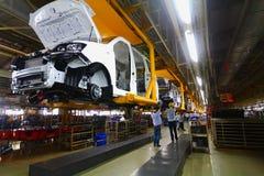 Linea di produzione dell'automobile Fotografia Stock