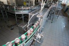 Linea di produzione per l'imbottigliamento della birra Immagine Stock Libera da Diritti