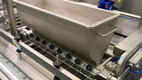 Linea di produzione robot automatizzata fabbrica dell'alimento Fotografia Stock