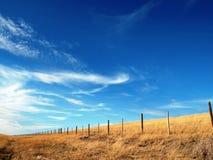 Linea di recinzione Fotografia Stock