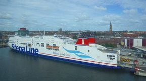 Linea di Stena - traghetto - porto di Kiel - la Germania Fotografia Stock