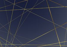 Linea di struttura dorata astratta moderna di stile di art deco fondo Fotografia Stock