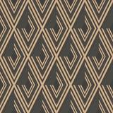 Linea di struttura senza cuciture dell'incrocio della geometria del controllo del diamante del fondo del modello del damasco di v illustrazione di stock