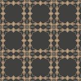 Linea di struttura trasversale del controllo del diamante della geometria della retro del modello del damasco di vettore curva se royalty illustrazione gratis