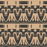 Linea di struttura trasversale della geometria del giardino botanico della retro del modello del damasco di vettore curva senza c royalty illustrazione gratis