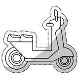 linea di taglio di consegna di trasporto del motorino della vespa royalty illustrazione gratis