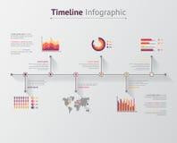 Linea di tempo infographic Fotografia Stock