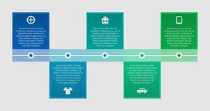 Linea di tempo infographic Illustrazione di vettore Immagini Stock