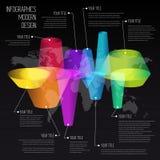 Linea di tempo modello di progettazione di infographics con l'insieme del diagramma. Idea a Fotografia Stock