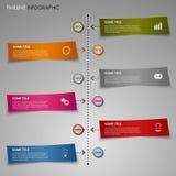 Linea di tempo modello grafico della carta a strisce di colore di informazioni Fotografia Stock Libera da Diritti