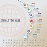Linea di tempo moderna bianca del complemento di Infographic modello Immagini Stock Libere da Diritti