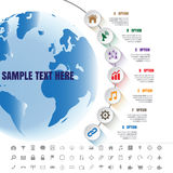 Linea di tempo moderna bianca del complemento di Infographic modello Immagini Stock