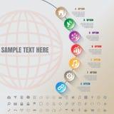 Linea di tempo moderna variopinta del complemento di Infographic modello Immagine Stock Libera da Diritti