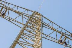 Linea di trasmissione ad alta tensione terrestre, Germania Fotografie Stock Libere da Diritti