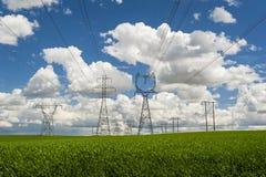 Linea di trasmissione di alto potere immagine stock