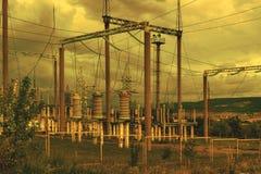 Linea di trasmissione 2 di elettricità Immagini Stock