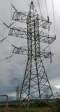 Linea di trasmissione di elettricità Immagine Stock