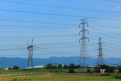 Linea di trasmissione elettrica Immagine Stock