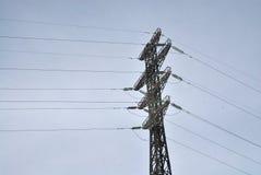 Linea di trasmissione elettrica supporto Immagini Stock