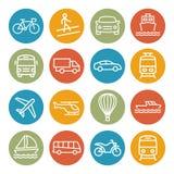 Linea di trasporto icone Immagini Stock
