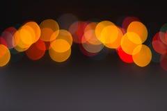 Linea di variopinto vaga intorno alle luci Immagini Stock Libere da Diritti