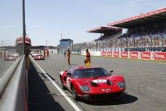 Linea diritta di inizio a Le Mans Fotografia Stock
