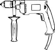 Linea disegnata a mano Art Drill /eps Immagine Stock