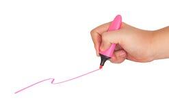 Linea disegnata penna del fermo della mano Fotografia Stock Libera da Diritti