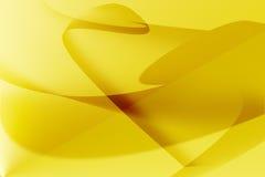 Linea dorata fondo della curva Fotografie Stock