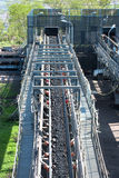 Linea elaborare del trasporto di carbone fotografia stock