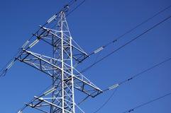 Linea elettrica ad alta tensione Immagini Stock Libere da Diritti
