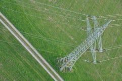 Linea elettrica ad alta tensione Fotografie Stock
