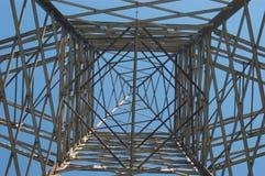 Linea elettrica ad alta tensione Immagini Stock
