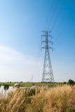 Linea elettrica ad alta tensione Fotografie Stock Libere da Diritti