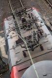 Linea elettrica ad alta tensione del treno Fotografia Stock Libera da Diritti