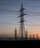 Linea elettrica ad alta tensione della torre Immagine Stock Libera da Diritti