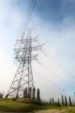 Linea elettrica ad alta tensione di sostegno Immagini Stock