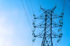 Linea elettrica ad alta tensione torretta Immagine Stock Libera da Diritti