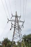 Linea elettrica ad alta tensione torretta Fotografie Stock Libere da Diritti