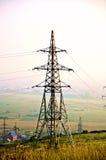 Linea elettrica al tramonto Immagine Stock